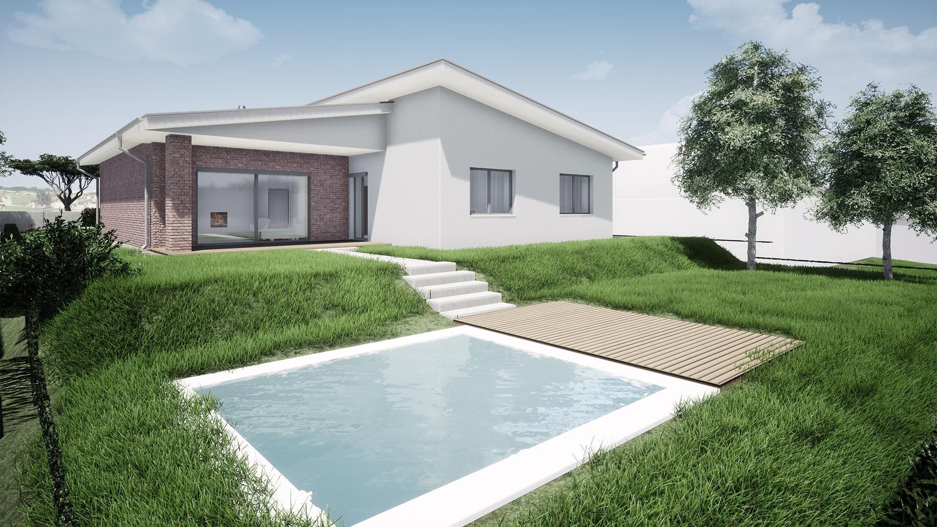 ROdinný dom pultová strecha_1